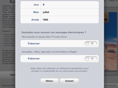 Comment utiliser une tablette compte itunes sans cb - Visualiser une adresse ...